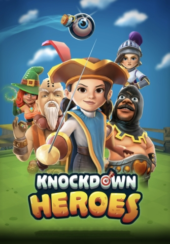 Knockdown Heroes Title Screen - A free-to-play strategy fighting game for iOS and Android from Rogue Games (Graphic: Business Wire)