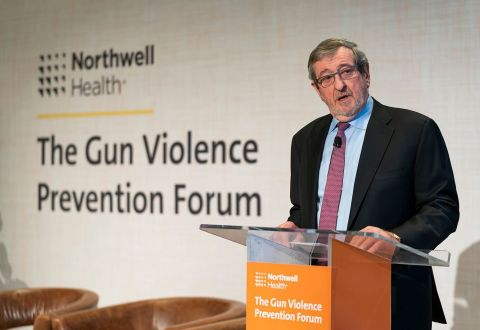 Northwell President & CEO Michael Dowling convened a national conference on gun violence in December that drew representatives from more than 100 health systems, hospitals and medical associations. (Photo: Business Wire)
