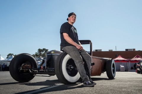 2019 Regional Winner and Young Guns Top 10 finalist Cody Nebeker with his 1930 Chrysler. The 2020 SEMA Battle of the Builders® Young Guns Regional Competition kicks off at the Heat Wave Spring Break Jam in South Padre Island, Texas. (Photo: Business Wire)
