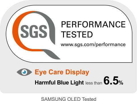 SGS Certifies Samsung Display 5G Panel for Eye Care (Graphic: Business Wire)