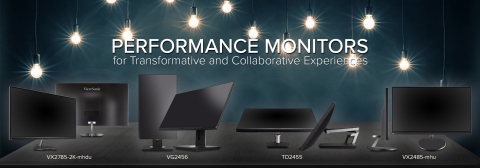 ViewSonic monitors offer a variety of resolutions, features, and connectivity options to ensure maximum flexibility and productivity. (Graphic: Business Wire)