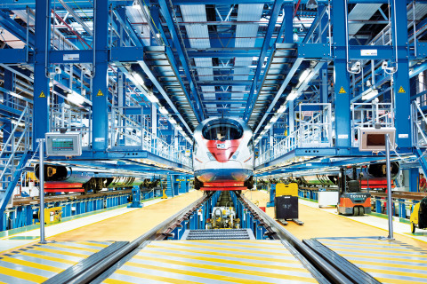 Leveraging its rail domain knowledge and Stratasys 3D printers, Siemens Mobility is able to rapidly and cost-effectively produce spare parts for the RZD high-speed Sapsan train fleet (Photo: Business Wire)