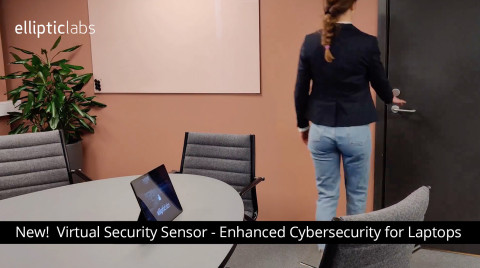 Elliptic Labs launches a virtual smart sensor presence-detection solution for laptop security (Photo: Business Wire)