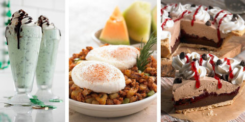 Celebrate Spring at Coco's Restaurants & Bakeries with new dishes like a Choc O'Mint Shake and Corned Beef Hash n' Eggs for St. Patrick's Day or a slice of seasonal Dark Chocolate Raspberry Harvest Pie. (Photo: Business Wire)