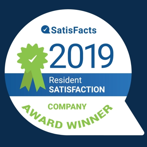 Corvias is a recipient of the 2019 National SatisFacts Resident Satisfaction Company Award for excellent resident service efforts and property management for military housing.