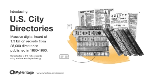 MyHeritage Releases Massive Collection of Historical U.S. City Directories (Photo: Business Wire)