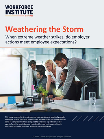 With more extreme weather events impacting the workplace, employees have specific expectations for how their organization can support a culture of caring in times of crisis.