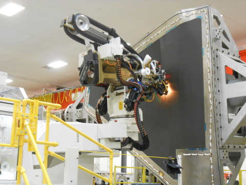Albany Engineered Composites' automated fabrication of F-35 wing skin (Photo: Albany Engineered Composites)