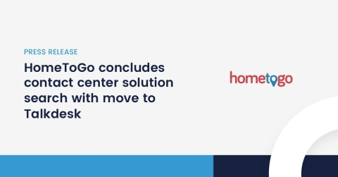Talkdesk Enterprise Cloud Contact Center offers maximum scalability, flexibility and freedom for HomeToGo's growing customer service operation (Graphic: Business Wire)