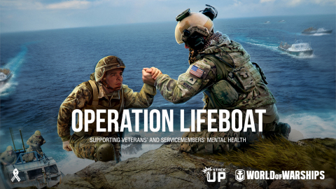 Wargaming partners with StackUp.org to support U.S. Veterans and Service Members. Operation Lifeboat aims to raise funds and awareness for 24/7 crisis intervention and peer-to-peer mental health support. (Photo: Business Wire)