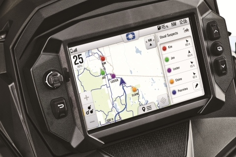 The new 7S Display is equipped with exclusive Polaris Ride Command Technology and integrates an entirely new level of intuitive, touch-screen control and customization options featuring Ride Command mapping, Group Ride tracking and Bluetooth connectivity. (Photo: Business Wire)