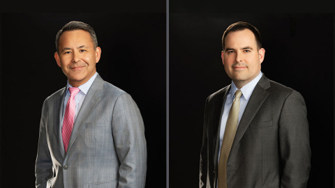Sanya Sukduang and Jonathan Davies join Cooley as intellectual property litigation partners based in Washington, DC. Sanya and Jonathan arrive from Finnegan with extensive experience navigating complex Hatch-Waxman Abbreviated New Drug Application cases. (Photo: Business Wire)