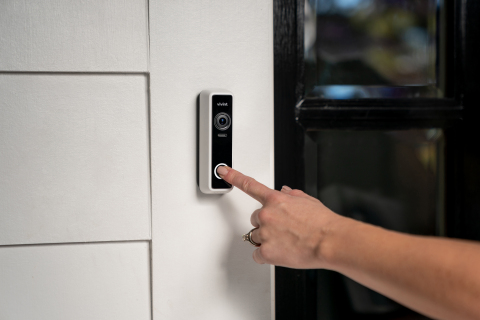 Equipped with 1080p HDR video, infrared night vision and two-way talk, the Vivint Doorbell Camera Pro provides 1664 x 1664 video resolution for a crystal-clear image of what's happening on your front door. (Photo: Business Wire)