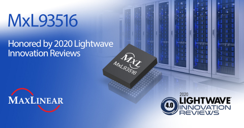 MxL93516 Receives 2020 Lightwave Innovation Award (Graphic: Business Wire)