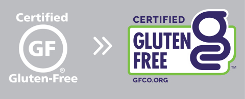Old to new GFCO certification mark (Graphic: Business Wire)