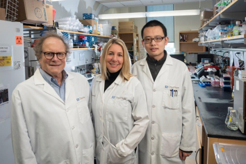 Michael Barish, Ph.D. (Left), Christine Brown, Ph.D. (Center), Dongrui Wang (Right) (Photo: Business Wire)