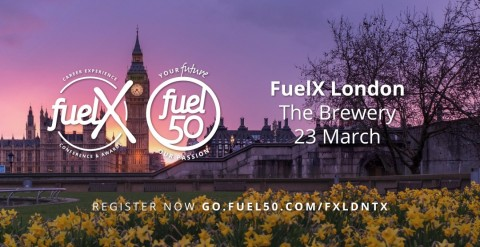 Fuel50, Leading HR Tech Solutions Provide, Prepares for FuelX Career Experience Conference in London on March 23 (Graphic: Business Wire)