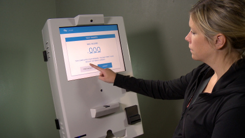 The AB Kiosk is widely used by courts and law enforcement to autonomously conduct alcohol screenings and probation check-ins. (Photo: Precision Kiosk Technologies)