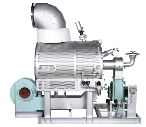 """VOLCANO's new """"MECS-GCU"""", the Gas Combustion Unit for LNG fueled vessel, can be installed even in small vessels, combusts gas of any ratio up to inert gas 100% on LNG fueled vessels and is completely compliant with IGF code and IGC code. (Photo: Business Wire)"""