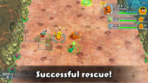 The Pokémon Mystery Dungeon: Rescue Team DX game will be available on March 6. (Photo: Business Wire)