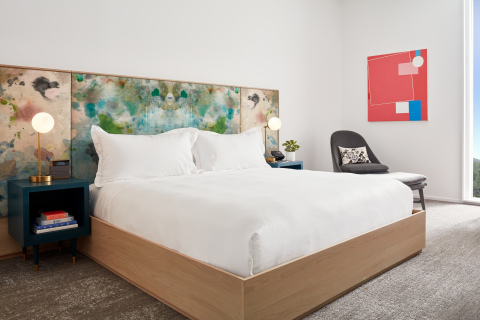 Guestroom at Quirk Hotel Charlottesville. (Photo: Business Wire)