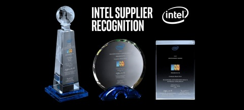 Intel has three levels of supplier recognition: The Supplier Continuous Quality Improvement (SCQI) Award, the Preferred Quality Supplier (PQS) Award and the Supplier Achievement Award (SAA). The awards are part of Intel's SCQI program, which encourages Intel's key suppliers to strive for best-in-class levels of excellence and continuous improvement. (Credit: Intel Corporation)