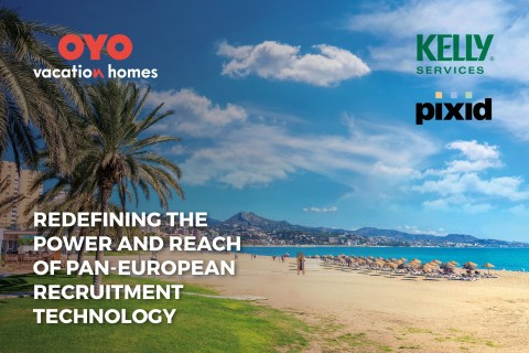 Kelly and Pixid provide the ultimate recruitment technology solution for OYO Vacation Homes (Graphic: Business Wire)