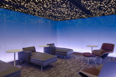 Moonrise tranquility room within the Centurion Lounge at Los Angeles International Airport (Photo: Business Wire)