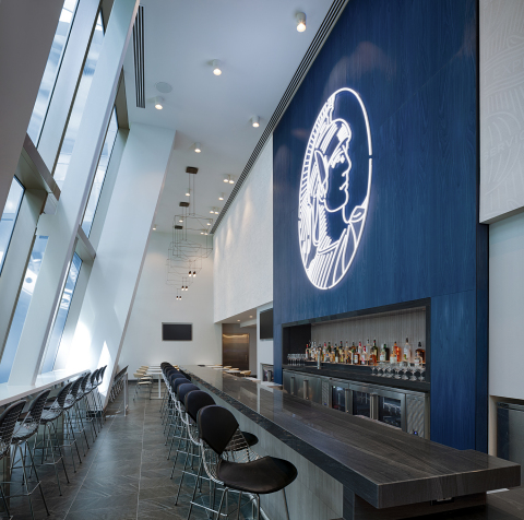 Bar area within the Centurion Lounge at Los Angeles International Airport (Photo: Business Wire)