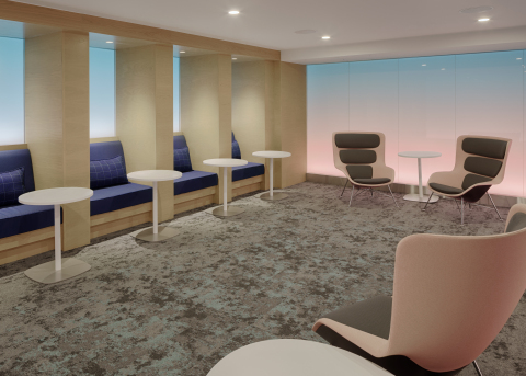 Sunrise tranquility room within the Centurion Lounge at Los Angeles International Airport (Photo: Business Wire)