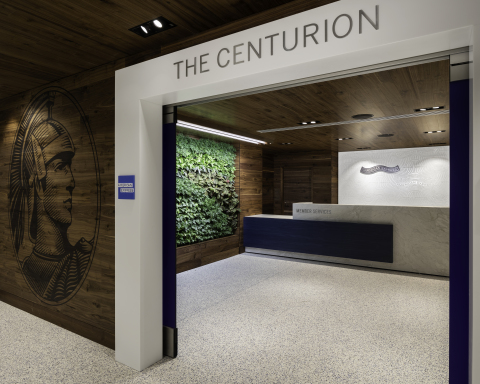 Entryway to the Centurion Lounge at Los Angeles International Airport (Photo: Business Wire)