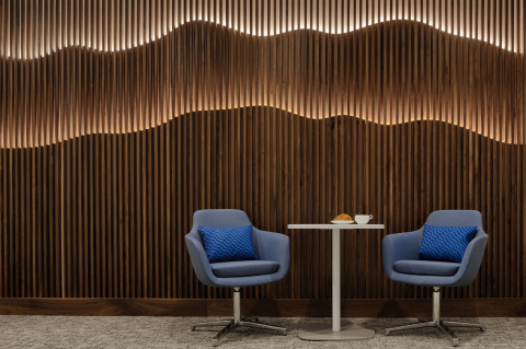 Hollywood Hills seating within the Centurion Lounge at Los Angeles International Airport (Photo: Business Wire)