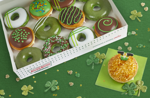 Krispy Kreme has created a Leprechaun Trap Doughnut filled with Irish Kreme flavor to catch them March 14-17 (Photo: Business Wire)