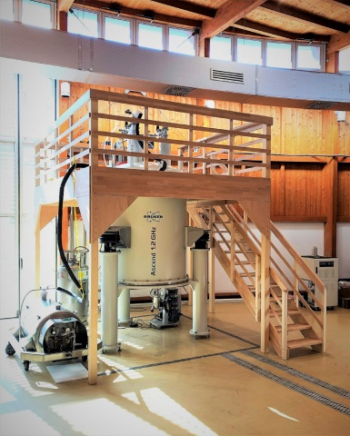 Bruker 1.2 GHz NMR Spectrometer at CERM at University of Florence, Italy (Photo: Business Wire)