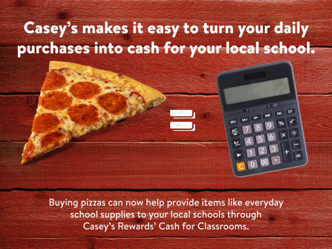 Casey's Cash for Classrooms program (Graphic: Casey's General Stores)