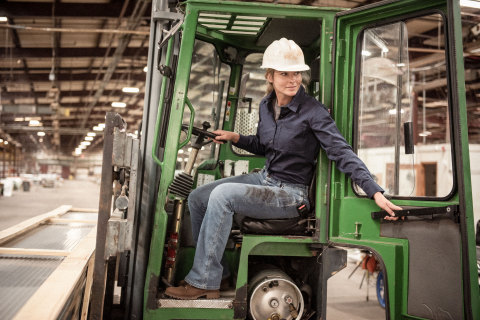 The Wrangler RIGGS Workwear for Women collection enhances the brand's existing female fits in both tops and bottoms by combining the comfort and durability needed to get any job done with confidence. (Photo: Business Wire)