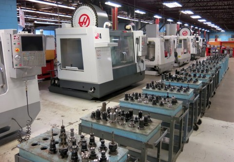 Auction will feature (11) HAAS CNC 4 & 5-Axis Vertical Machining Centers (Photo: Business Wire)