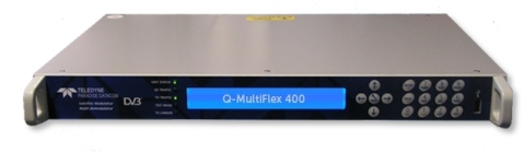 "The industry's first ""Embedded"" Hub Canceller resides within Teledyne Paradise's QMultiFlex-400 satcom modem. (Photo: Business Wire)"