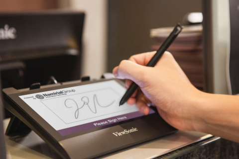 The ViewSonic Electronic Signature & Agreement Solutions (ViewSonic E-SAS), combines hardware and software, as well as substantial consultation on the digitization of business processes. (Photo: Business Wire)