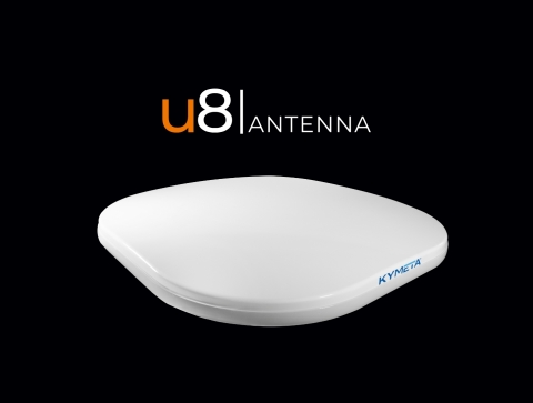 Kymeta u8 antenna is the world's only commercially available flat panel electronically steered antenna. (Photo: Business Wire)