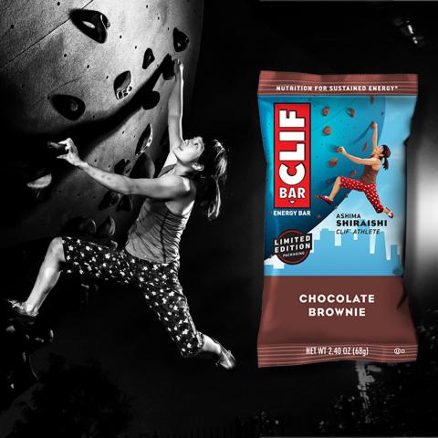 CLIF BAR Athlete Packaging featuring climber Ashima Shirashi (Photo: Business Wire)