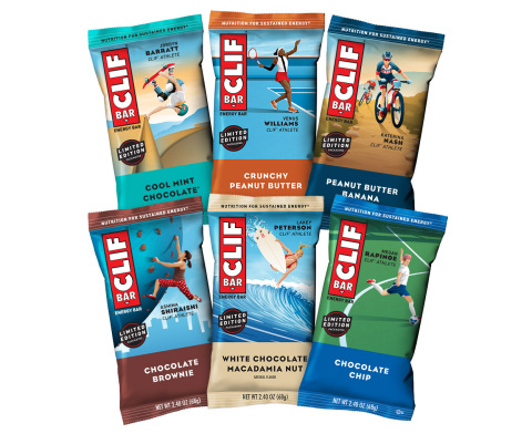 CLIF BAR Features Six Women Athletes On Packaging For The First Time Ever (Graphic: Business Wire)