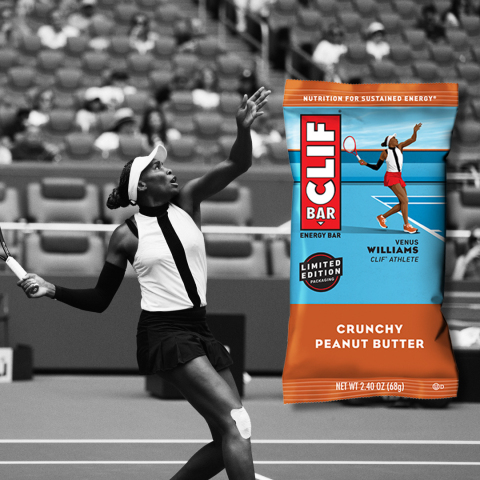 CLIF BAR Athlete Packaging featuring tennis player Venus Williams (Photo: Business Wire)