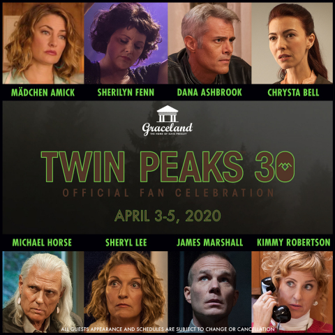 Celebrities attending the Twin Peaks 30th event at Graceland. (Graphic: Business Wire)