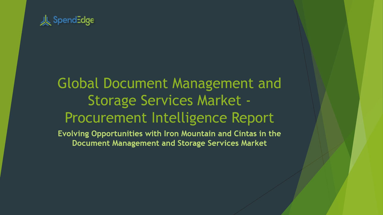 SpendEdge, a global procurement market intelligence firm, has announced the release of its Global Document Management and Storage Services Market - Procurement Intelligence Report.