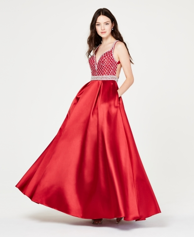 Win best dressed with incredible prom fashion, accessories and beauty from Macy's; Say Yes To The Prom Ballgown, $179.00 (Photo: Business Wire)