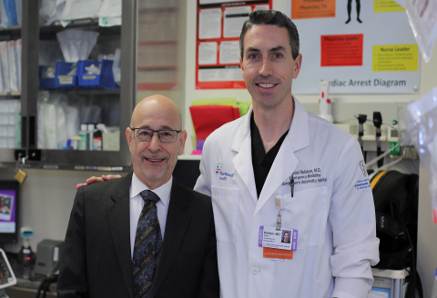 Dr. Lance Becker and Dr. Daniel Rolston, lead investigators of MTV-CPR (Credit: The Feinstein Institutes for Medical Research)