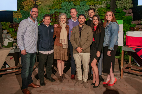 Left to Right: Jeff Diamond, Igloo VP, Product Development, Dr. Chad Nelson, CEO, Surfrider Foundation, Helen Lowman, CEO, Keep America Beautiful, Dave Allen, Igloo CEO and President, Ben Soto, Igloo VP, Creative, Brian Garofalow, Igloo VP, Marketing, Haley Bodziak, Igloo Manager, Sustainable Product and Grace Anne Gamboa, Igloo Director Soft Side Coolers. (Photo: Business Wire)