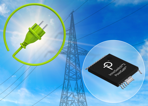 PowiGaN 技术可帮助实现效率高达94%的电源,适合应用于电网经常出现 断电和输入浪涌的地区 (图示:美国商业资讯)