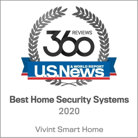 """U.S. News & World Report named Vivint Smart Home a """"Best Home Security System"""" for the second consecutive year. (Graphic: Business Wire)"""